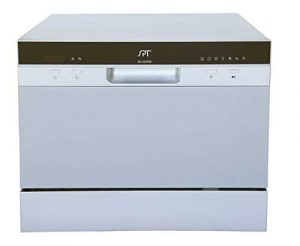 BSP SD-2224DS Silver-coloured dishwasher counter top