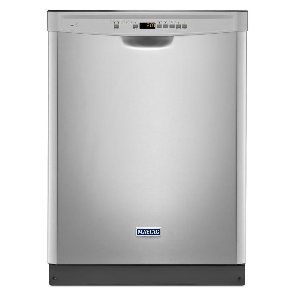 Maytag's 24-inch front panel dishwasher was voted the best dishwasher with a white surface.