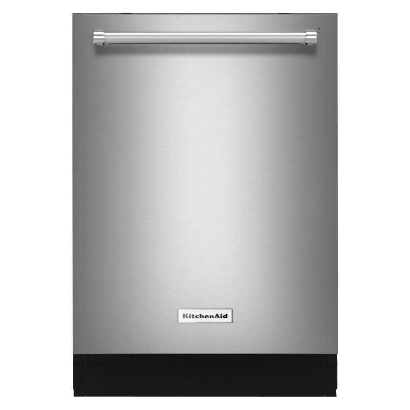 The KitchenAid KDTE104ESS Top Control with ProWash is the best dishwasher with a low-noise washing function.